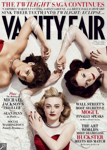 Twilight Women Vanity Fair Dakota Fanning Bryce Dallas Howard Ashley Greene