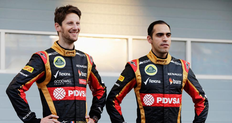 Romain Grosjean y Pastor Maldonado