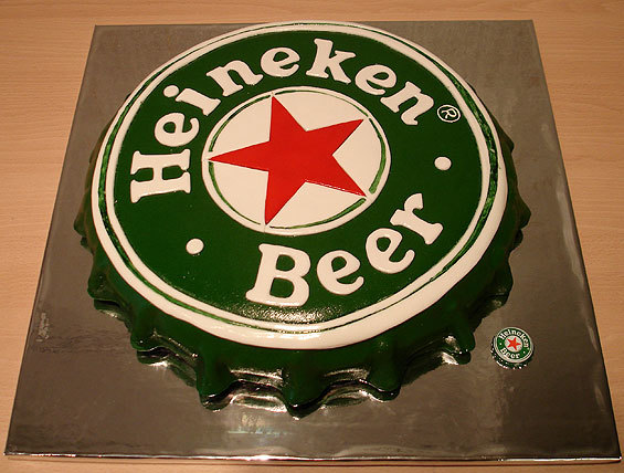 Heineken Bottle Cap Cake