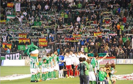 Benito Villamarín. Real Betis. (Supporters Sur)