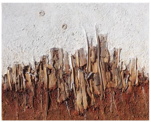 Multitud. Sobre bastidor de madera. (80x100)