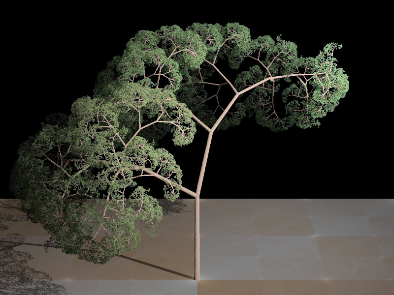 Fractal Tree Plate B 2