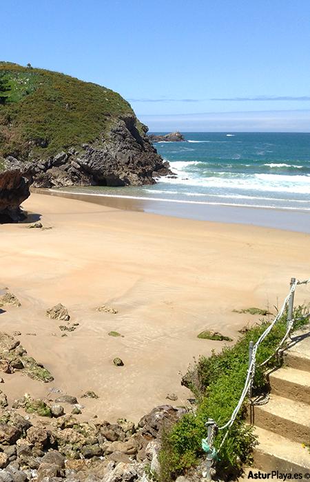 Troenzo Beach In Llanes Asturias Stairs
