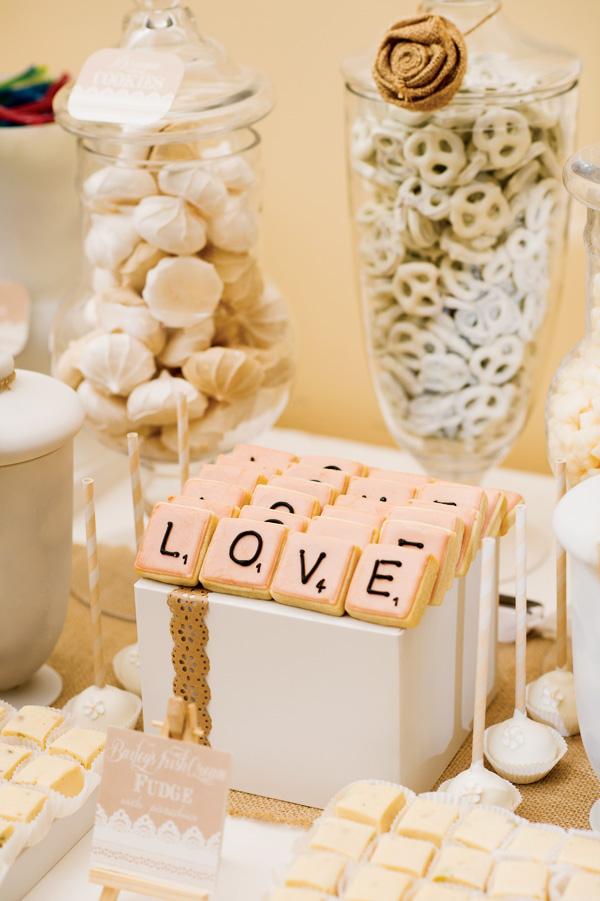 Love Scrabble Tile Cookies