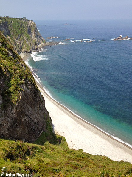 Churin Beach Asturias Seen From Above