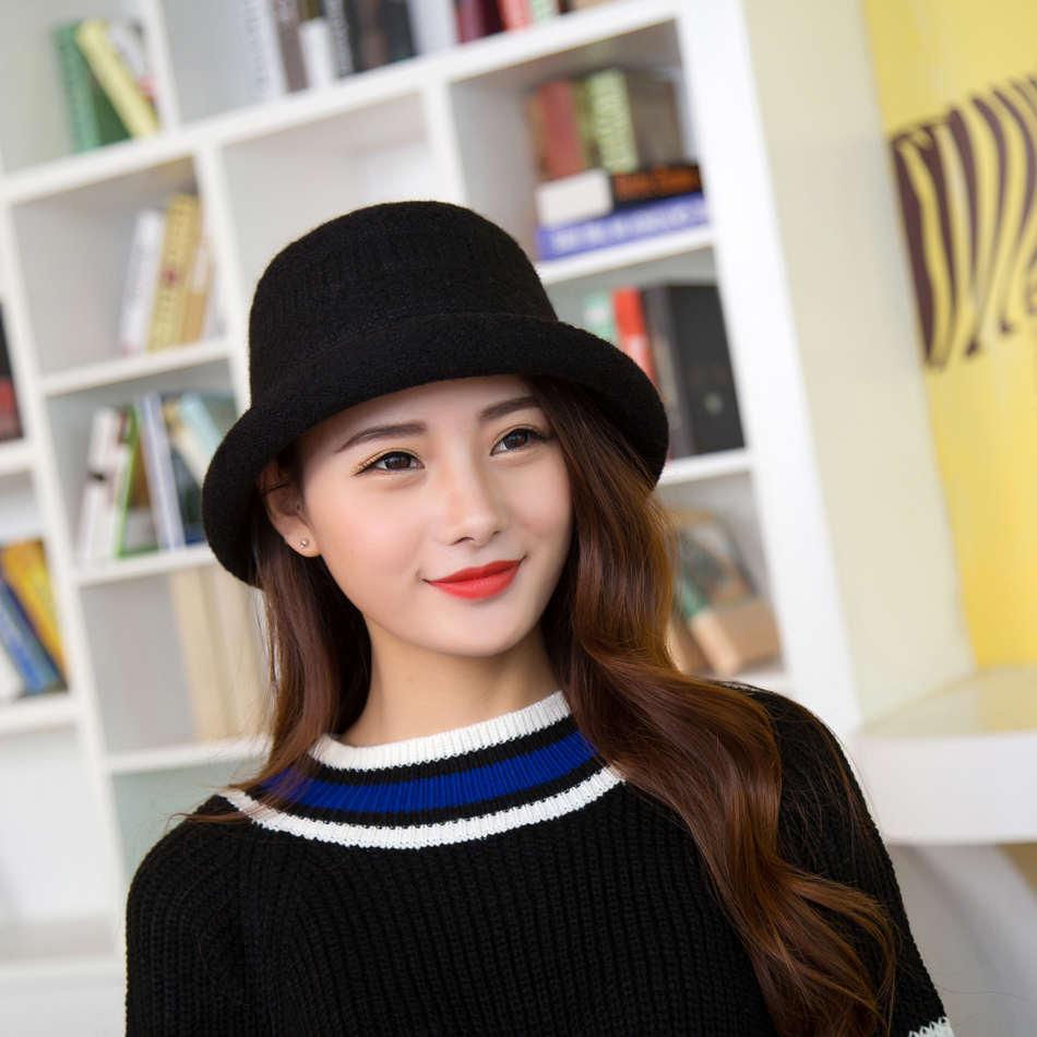 Elegante Sombrero De Mujer Otono Invierno Gorros De Punto Sombreros De Lana Para La Mujer De