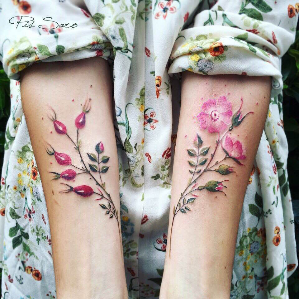 Botanical Tattoos Inspired By Garden Walks By Pis Saro Colossal