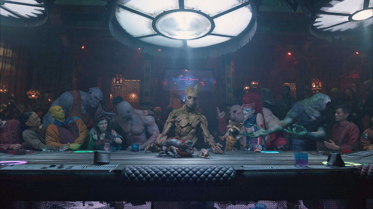 Last Supper Guardians Galaxy