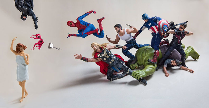 Superhero Action Figure Toys Photography Hrjoe 22