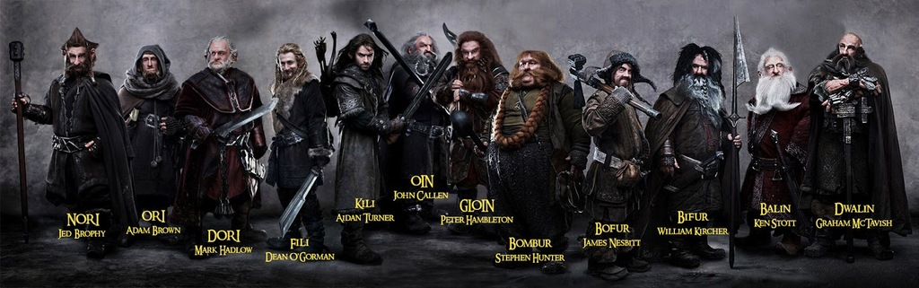 Los 12 Enanos De The Hobbit