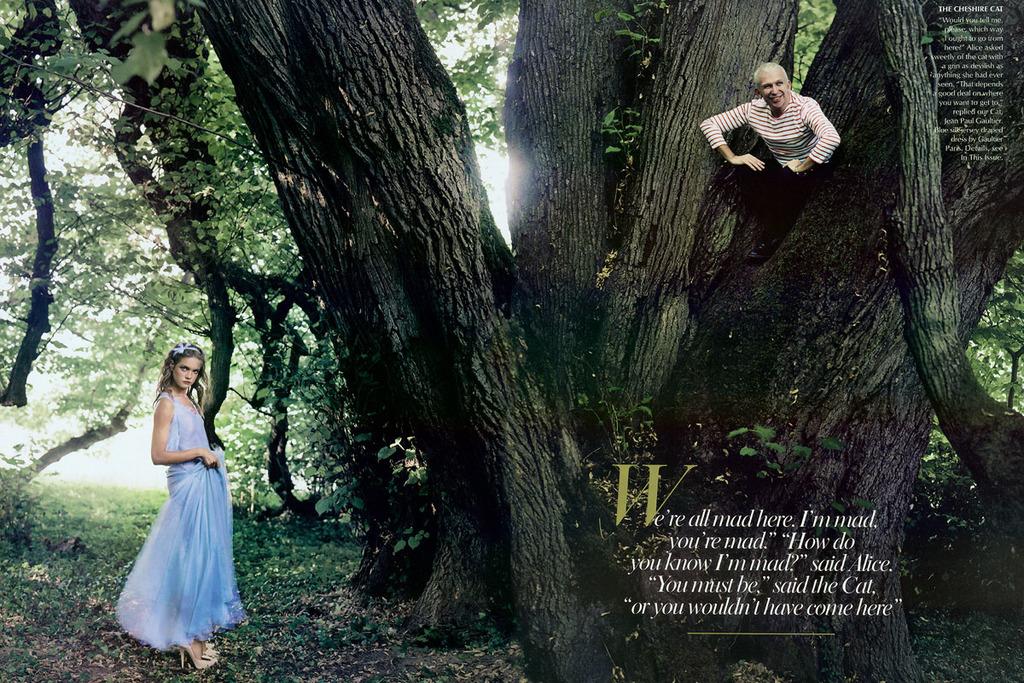 Annie Leibovitz Natalia Vodianova Alice In Wonderland 08 Jean Paul Gaultier