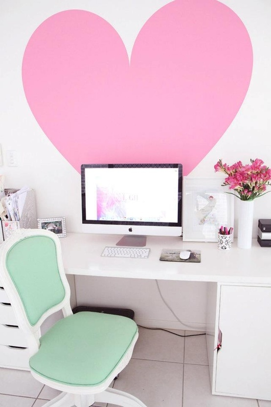 Desk Furniture Heart Home Favim Com 595802