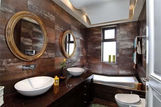 Modern Chocolate Bathroom Design