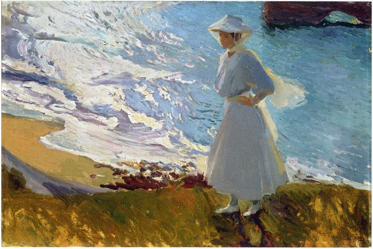 Joaquin Sorolla Maria At The Beach Biarritz