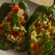 Platillo de Chile vegetariano.