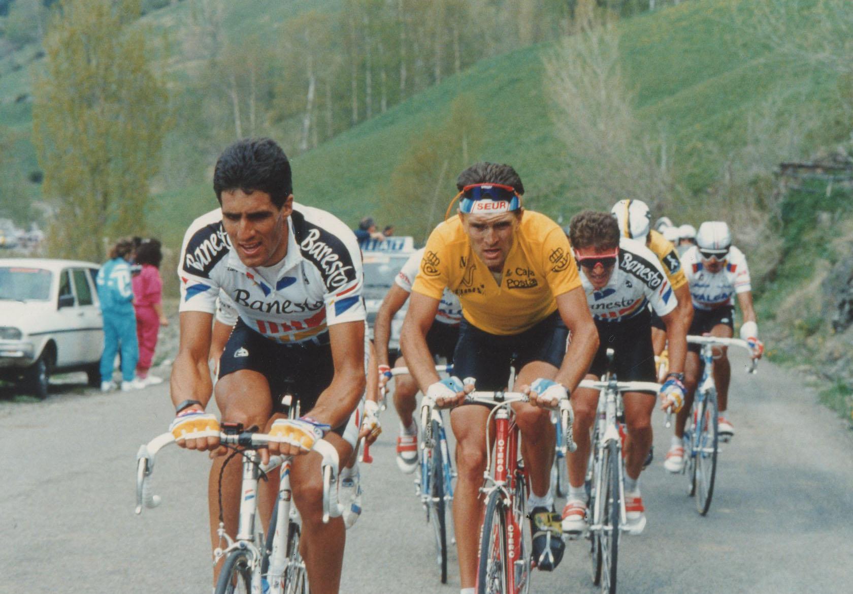 Miguel Indurain en la Vuelta a España. 1990