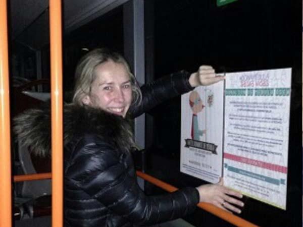 Dona médula en los autobuses de Burgos