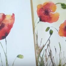 Cómo pintar amapolas con acuarela
