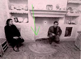"""María y su esposo frente a """"la pava"""", la primera cara"""