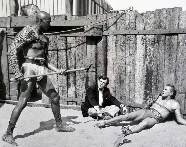 Stanley Kubrick Directing Woody Strode And Kirk Douglas On The Set Of Spartacus