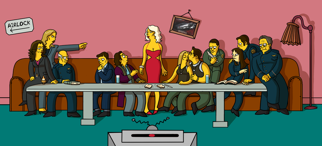 Supper Galactica Simpsons Png
