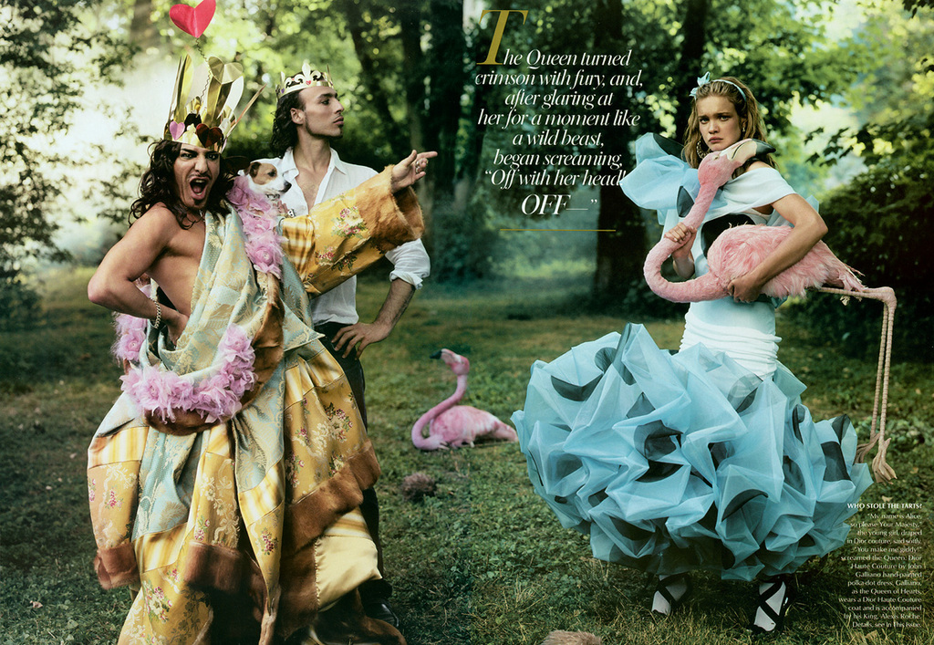 Galliano Plays The The Red Queen In Vogues Alice In Wonderland Shoot
