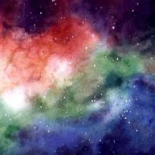 Cómo pintar una galaxia con acuarelas