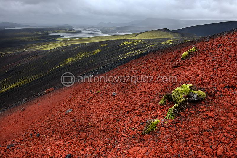 Campos de lava en las cercanías del Lago Ljötipollur