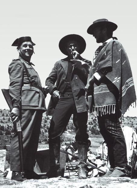 Clint Eastwood In The Company Of A Spanish Policeman During The Shooting Of The Good The Bad And The Ugly