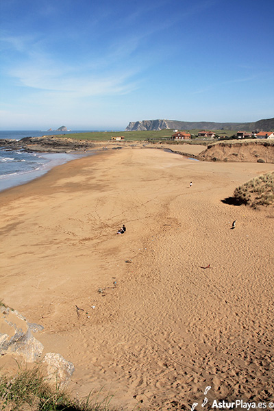 Verdicio Beach Sand Dunes Asturias