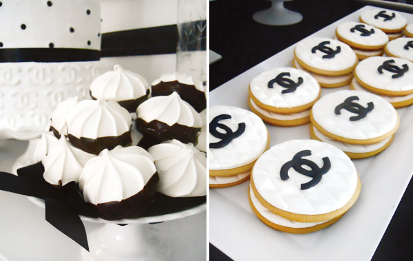 Coco Chanel Black White Desserts