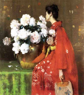 Japonisme William Merritt Chase 1849 1916 Peonies 1897