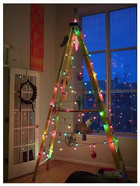 Arbol Navidad Reciclado Escalera