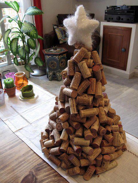 Arbol De Navidad Con Corchos