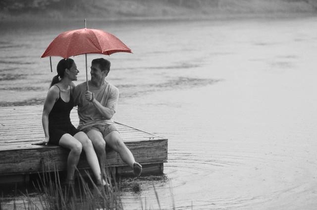 Couple Rain Lake