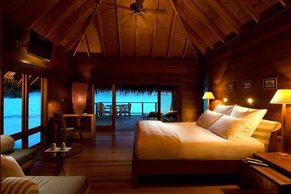 Wood Bedroom Villa Resort