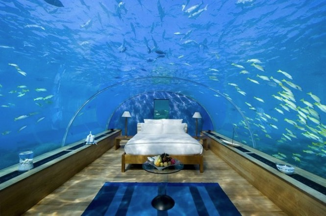 1 Underwater Hotel Suite Conrad Maldives Rangali Islands Resort 665x442