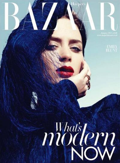 Harpers Bazaar Uk Emily Blunt By Paola Kudacki 00