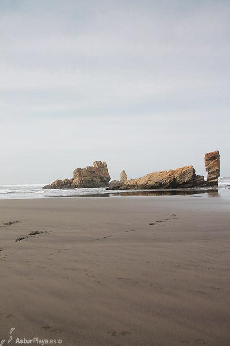 Rocks In Front Of Requexinos Beach Asturias