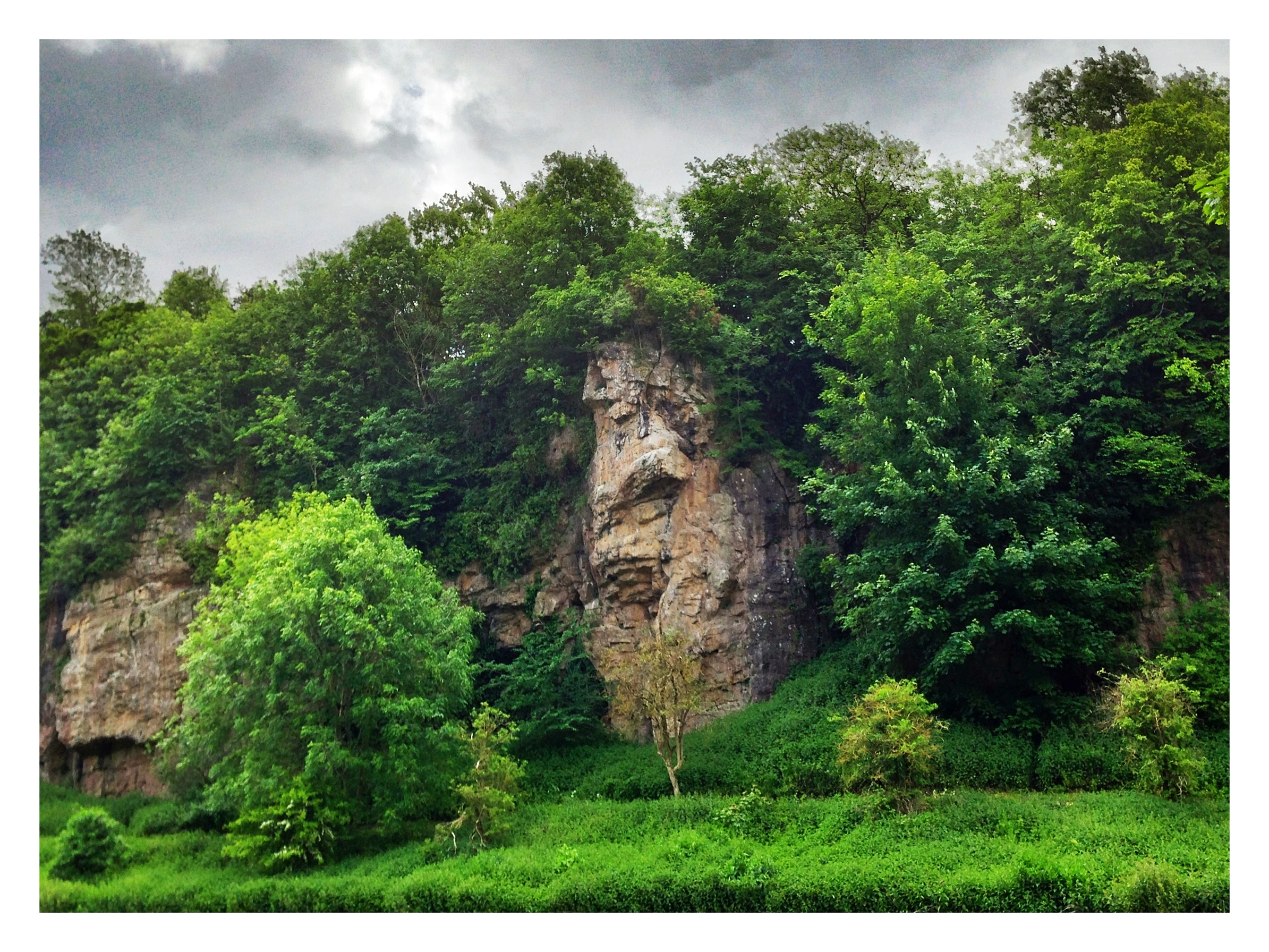 Creswell Crags,NottinghamShire border