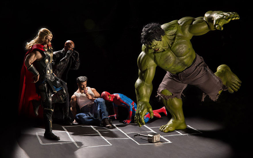 Superhero Action Figure Toys Photography Hrjoe 3