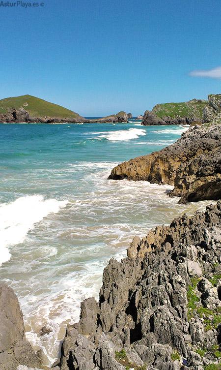 Isla Almenada vista de la playa de San Martín en pleamar