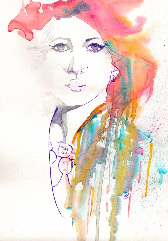 Skine Fashion Illustration By Likeabalalaika