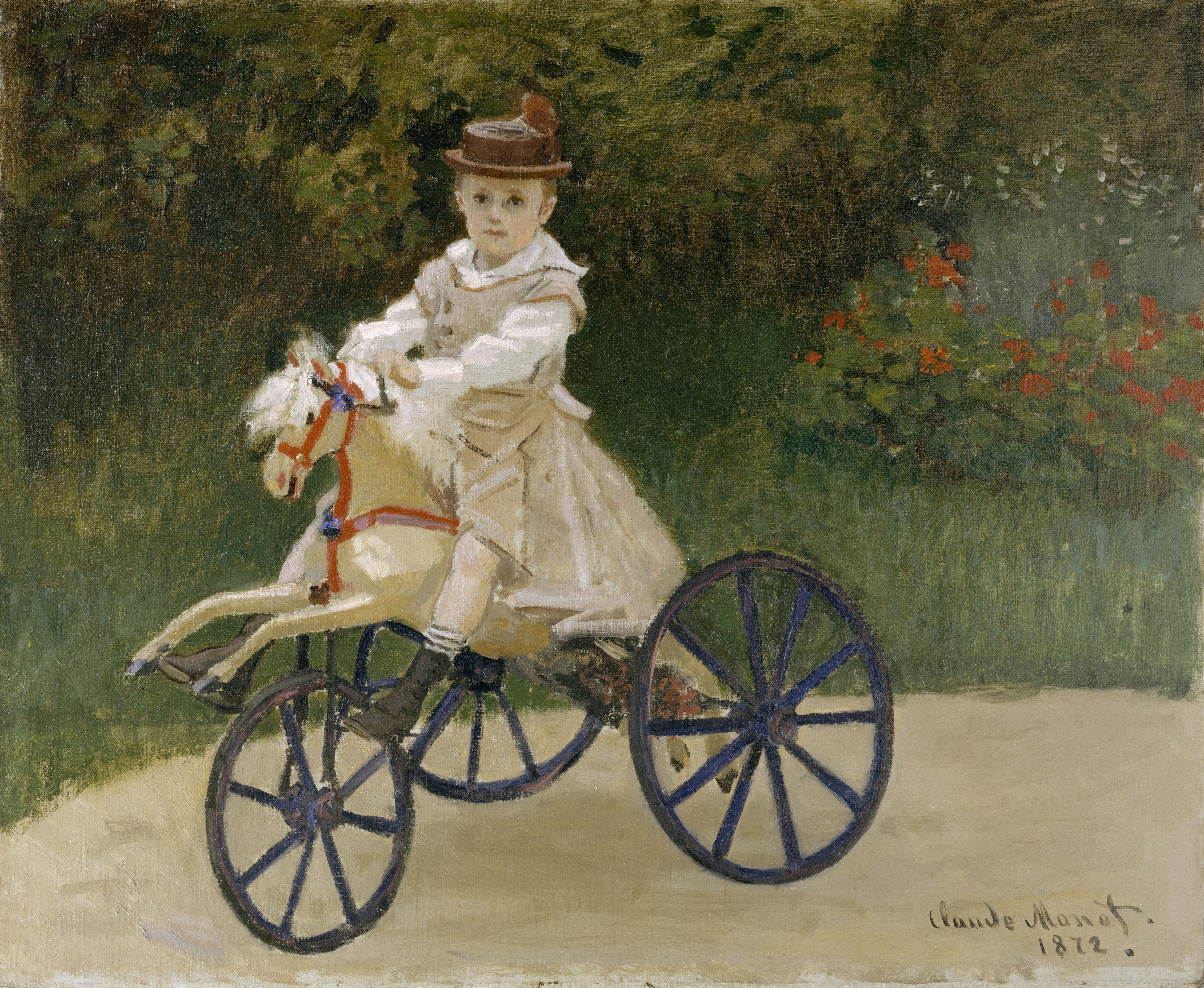 Claude Monet Jean Monet On His Hobby Horse