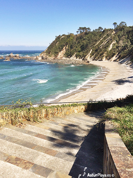 Castello Beach Stairs Access Asturias