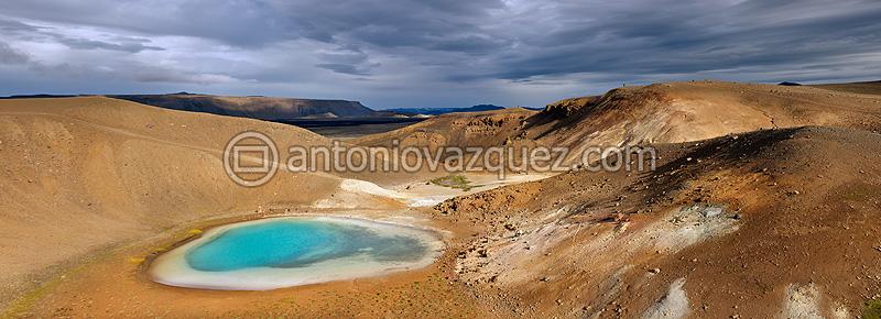Laguna Krafla, Area geotermal de Víti