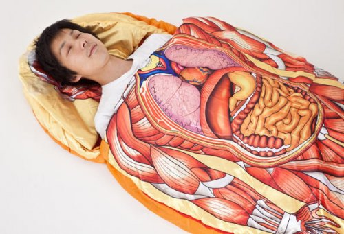 Anatomical Model Sleeping Bag For Creepy Camping 1