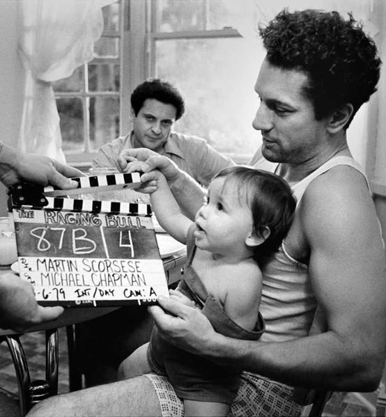 Robert Deniro On The Set Of Raging Bull 1980
