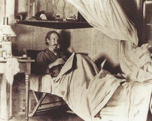Robert Louis Stevenson, 1885.