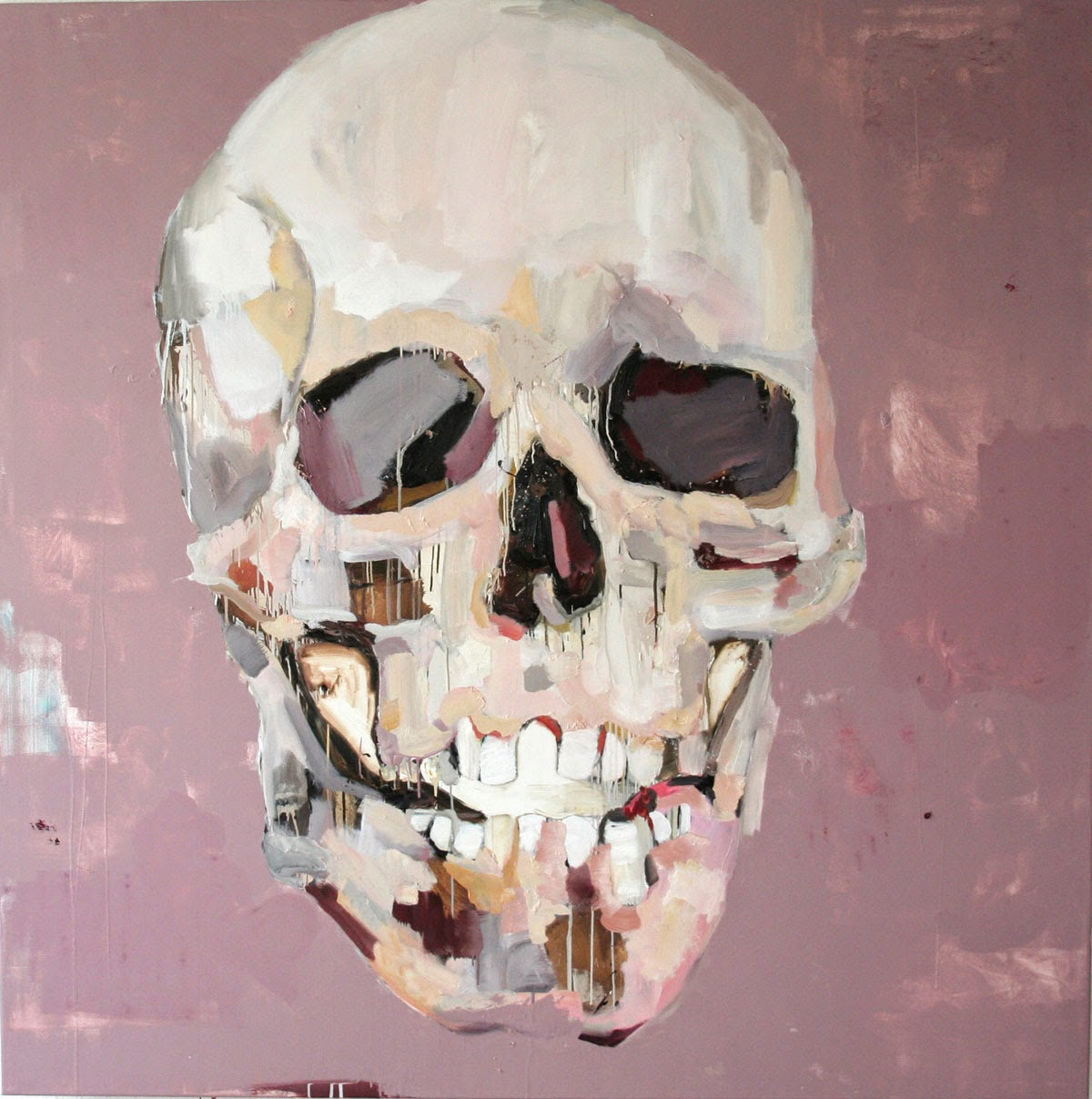 Skull 3 Oil And Lacquer And Canvas 190x190 Cm 2008